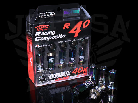 Project Kics R40 Extended Lug Nuts with Locks - Neo Chrono