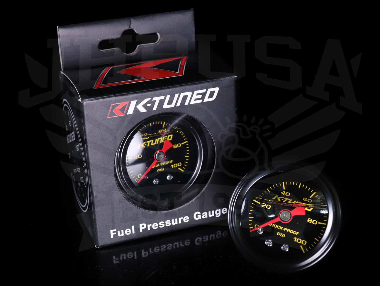 K-Tuned Liquid Filled Fuel Pressure Gauge (0-100psi)