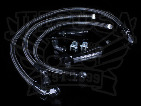 K-Tuned K-swap Center Feed Fuel Line Kit (Inline Filter)
