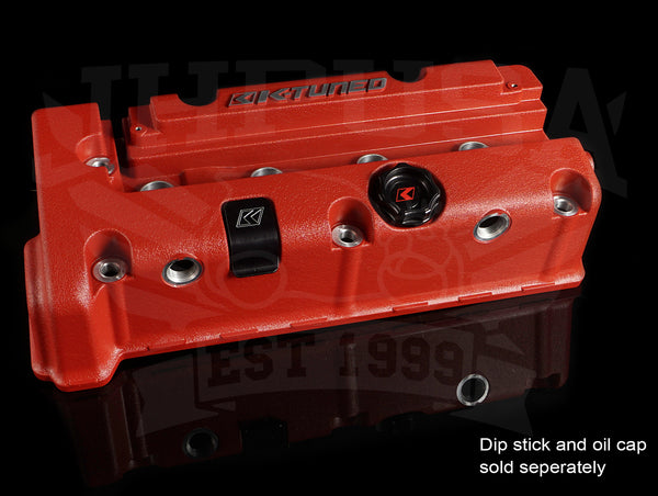 K-Tuned Vented Wrinkle Red Valve Cover - K-series (K20A/Z, K24A)