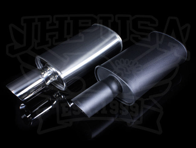 "BRUSHED FINISH K-TUNED MUFFLER 2.5/"" UNIVERSAL 19/"" SHORT KTD-MFS-25S"