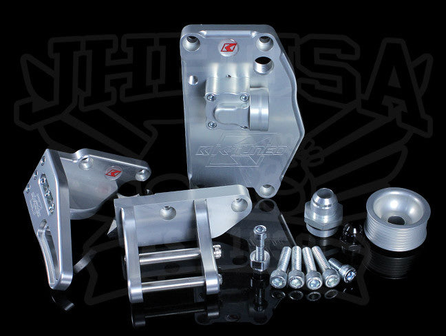 K-Tuned K-series Water Plate w/Alternator Brackets & AN Fittings