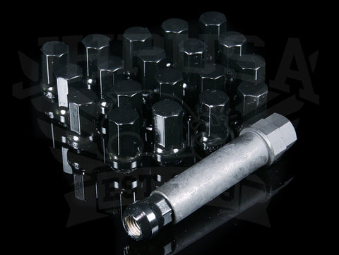Mugen Black Lug Nut Set - Heptagon #7