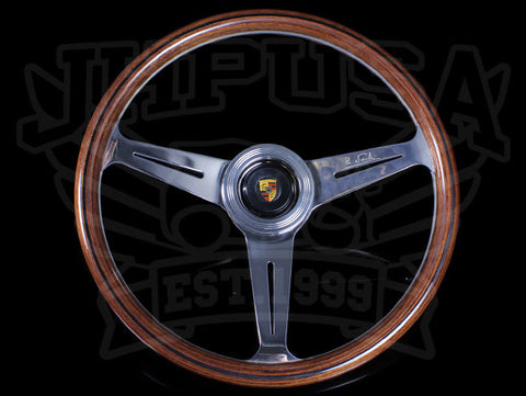 Nardi Classic Wood 360 Steering Wheel w/ Porsche Horn Button