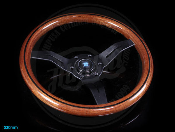 Nardi Classic Wood Deep Corn Steering Wheel w/ Black Spokes