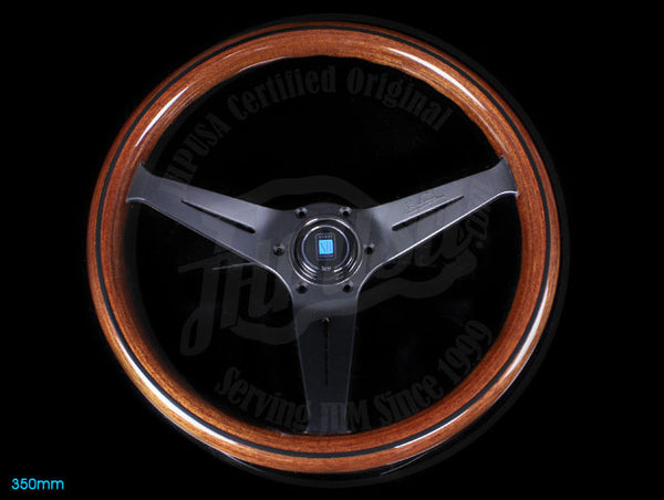 Nardi Deep Corn Wood Steering Wheel w/ Black Spokes