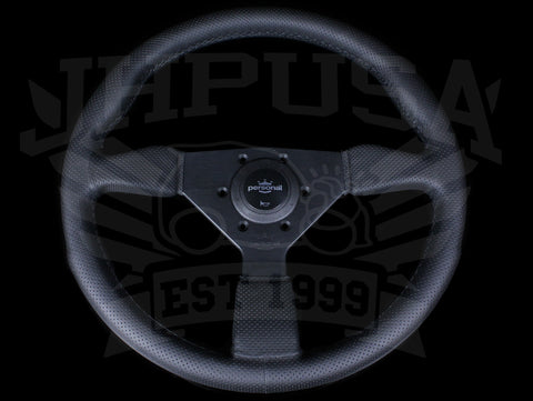 Personal Grinta 350mm Steering Wheel - Black Edition / Perforated Leather