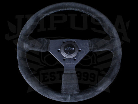 Personal Grinta 350mm Steering Wheel - Black Edition / Suede