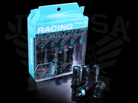 Project Mu Racing Floating Nut II - Black M12x1.50
