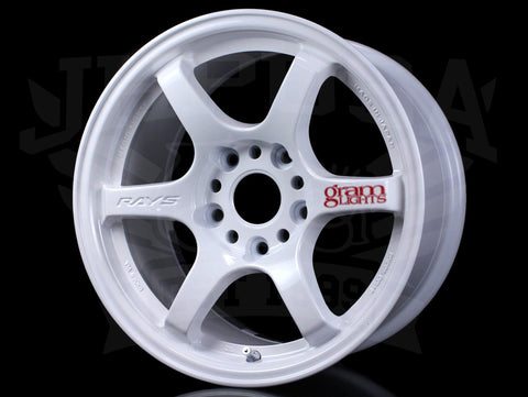 Rays Gram Lights 57DR Wheels - Champ White 15x8 / 5x114 / +35