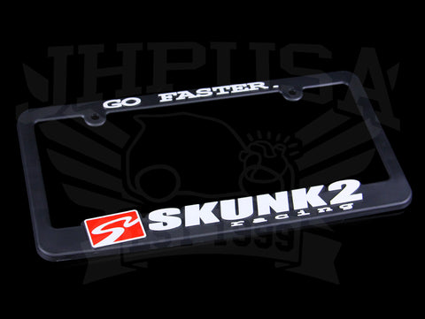 Skunk2 'Go Faster' License Plate Frame