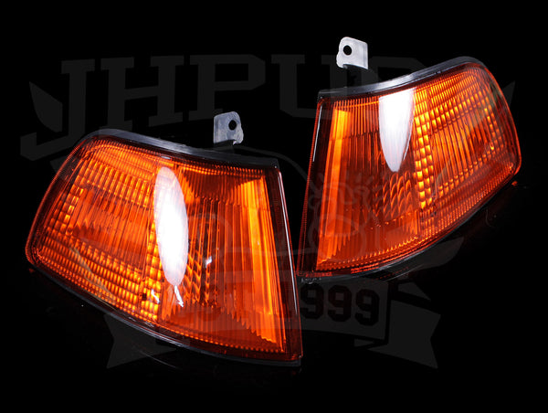 Spec-D Tuning Amber Corner Lights - 90-91 Civic