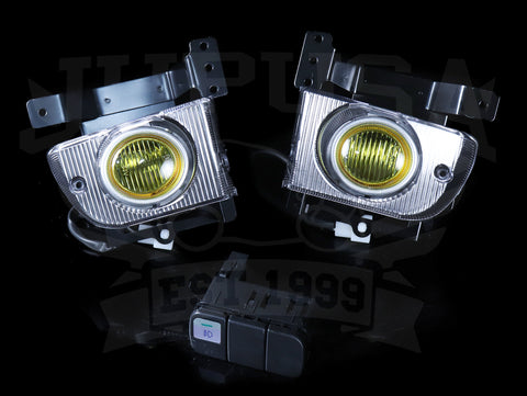 Spec-D Tuning OEM Style Yellow Fog Light Kit - 92-95 Civic Sedan