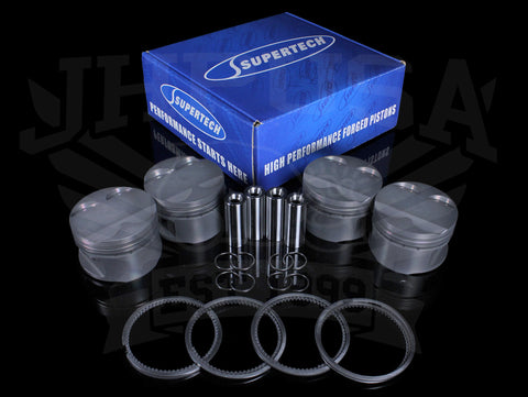 Supertech Forged Piston Kit - B-series VTEC (B16A)