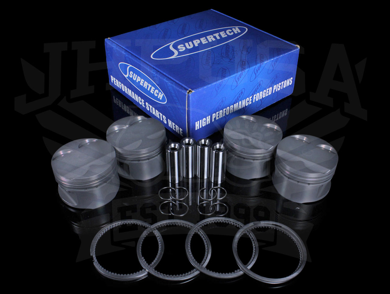 Supertech Forged Piston Kit - D-series (D16Z6)