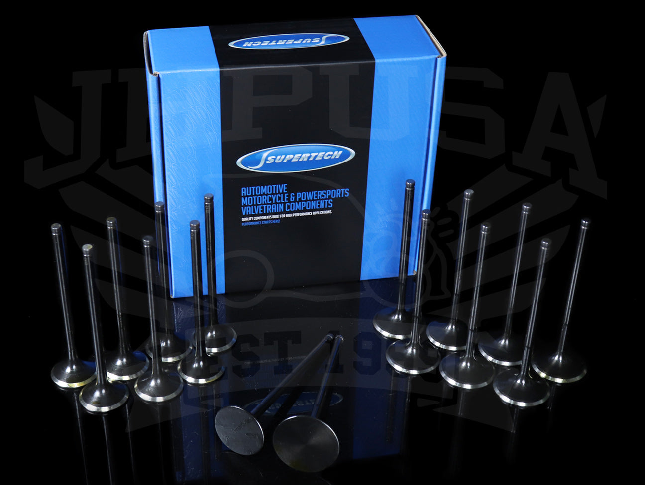 Supertech Black Nitride Hi-Comp Race Flat Valve Set - K-series (K20A RSX)