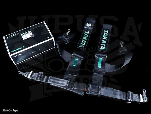 Takata Drift III 4-point Seat Belt Harnesses - Black / Bolt-On