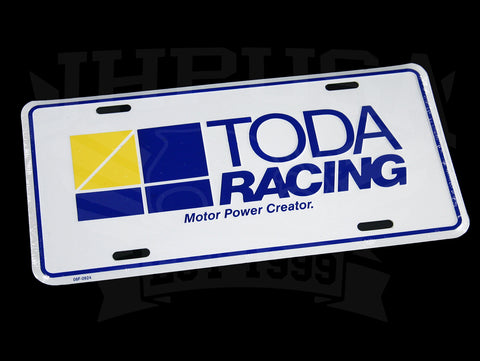 Toda Racing License Plate