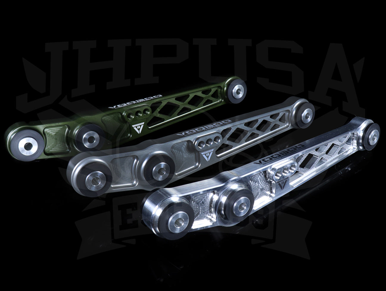 Voodoo 13 Billet Rear Lower Control Arms - 88-95 Civic / 90-01 Integra