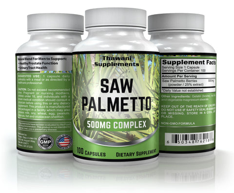 Saw Palmetto - 100 Capsulas 500 mg