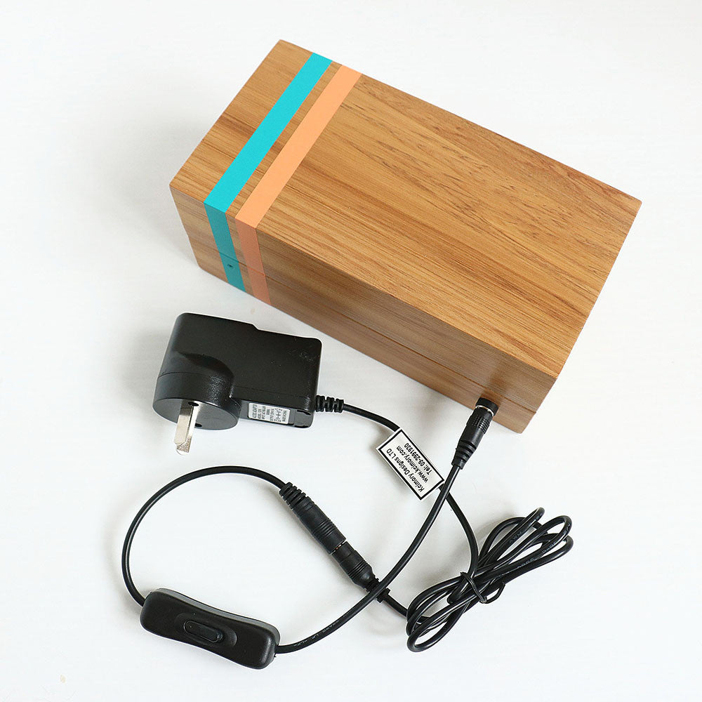 Recycled Wood Ambient LED Light - Rimu Lamp