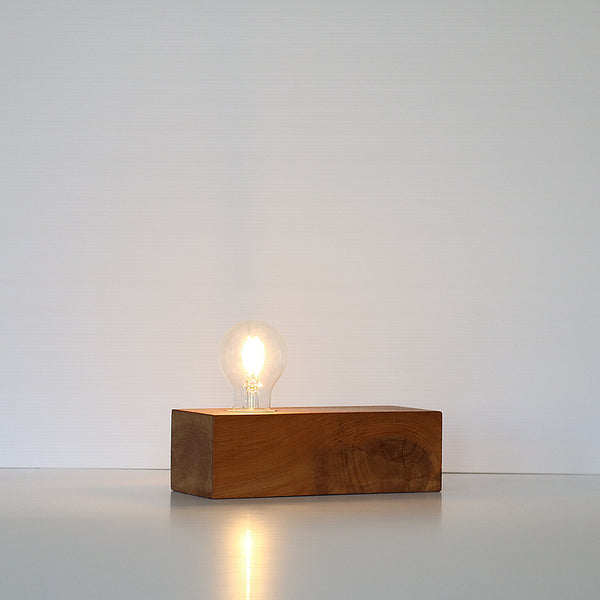 Recycled Wood LED Light Block - Rimu Lamp