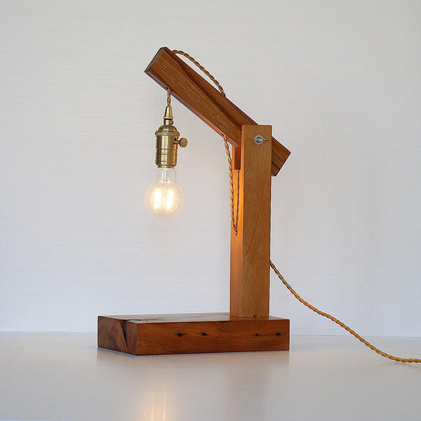 Recycled Wood Hanging LED Table Lamp - Rimu