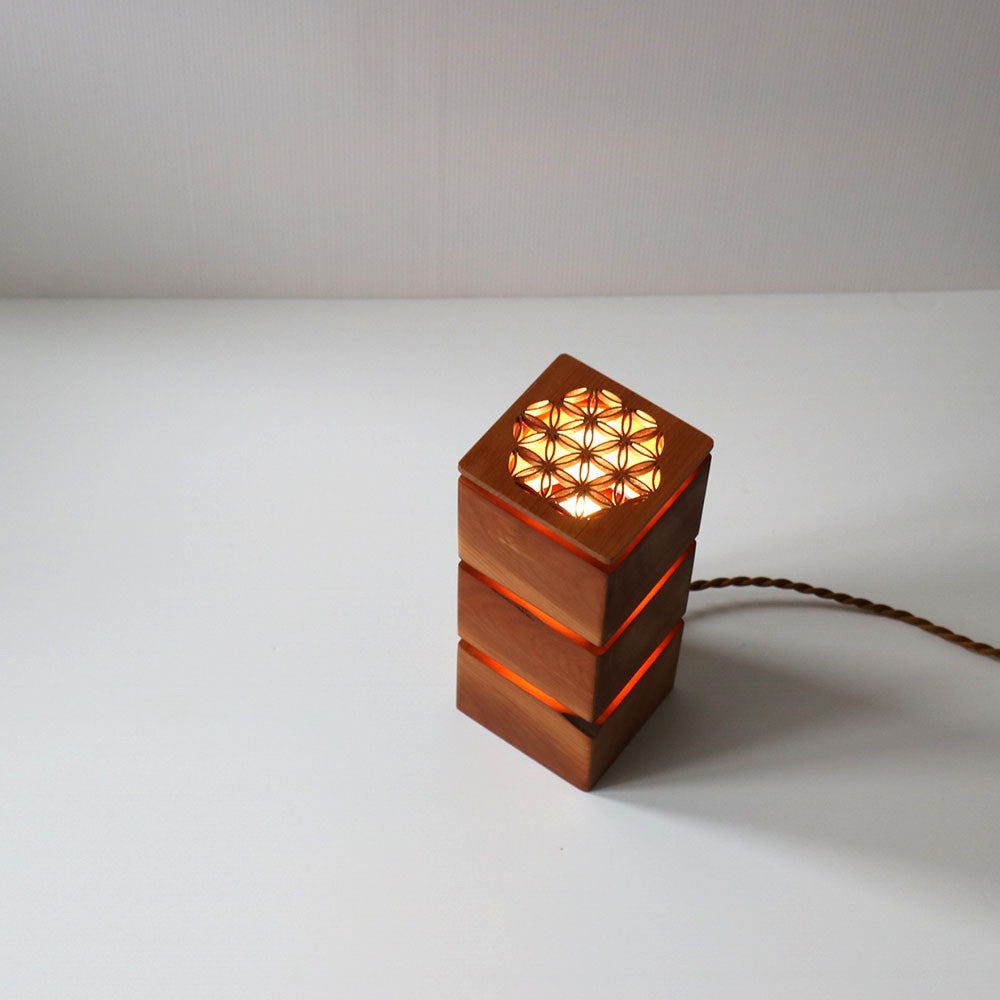Recycled Wood LED Lantern Lamps - Large