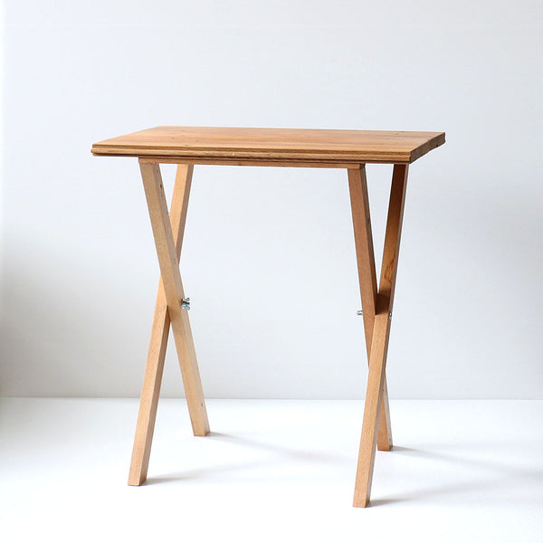Recycled Wood Table - Rimu Crossed Legged Side Table