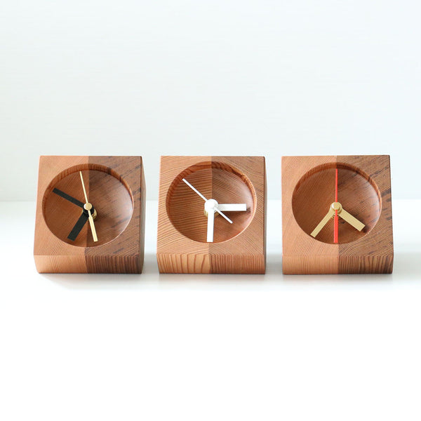 Cedar Table Clock - Handmade