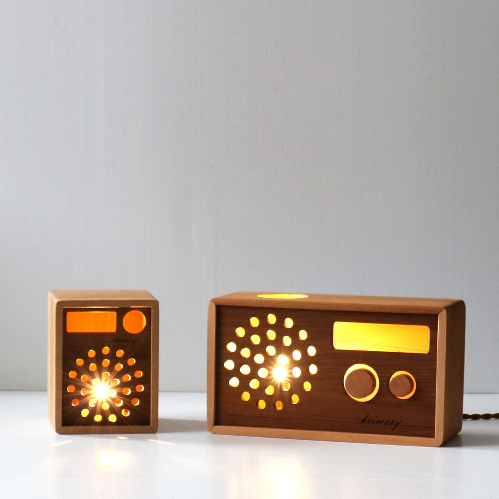 Retro Transistor Radio Light - Wooden LED Lamp - Cedar