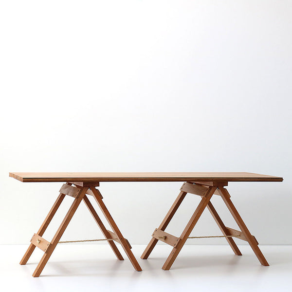 Recycled Wood Trestle Table - Coffee Table - Rimu