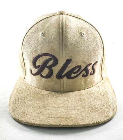 Bless tan & brown suede snapback