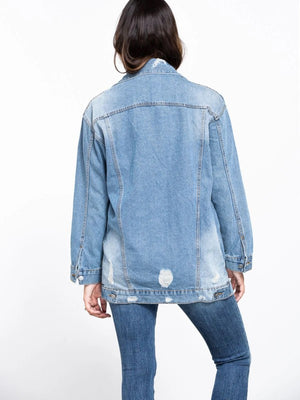 Light Denim Oversized Jacket