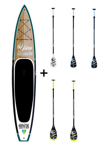 Yster Sup 12'6″ x 30″ Wood Front - Hård Sup Paket