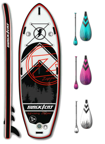 Black Cat Zapper 9.8 River - Uppblåsbar Sup Paket