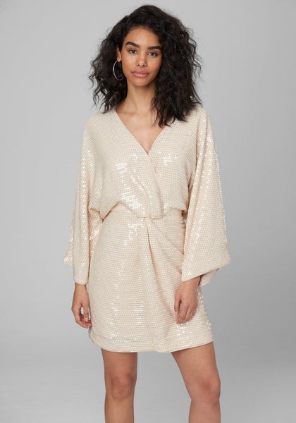 SEQUIN KIMONO SLEEVE DRESS Cocktail Dresses - bebe Arabia