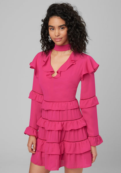 TIERED RUFFLE DRESS CASUAL DAY DRESSES - bebe Arabia