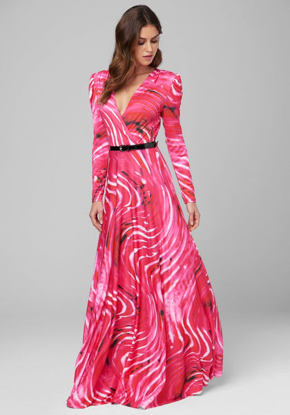 AURORA PUFF SLEEVE GOWN Evening Dresses - bebe Arabia