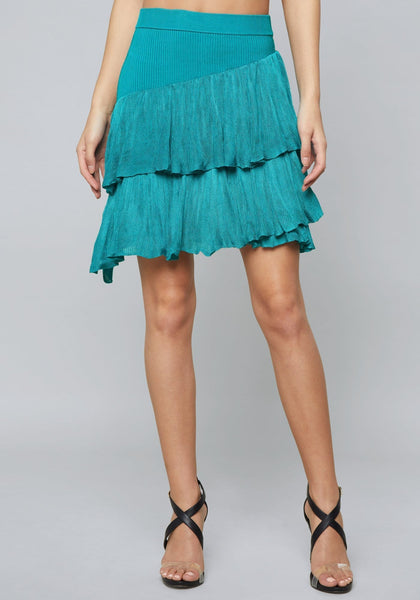 PAULA RUFFLED MINI SKIRT SKIRT - bebe Arabia