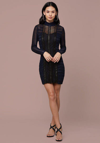 DIEM MIXED LACE DRESS Occasion Dresses - bebe Arabia