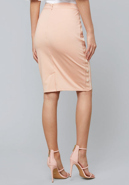 DINAH SNAP PENCIL SKIRT SKIRT - bebe Arabia