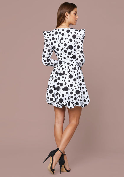 BUBBLE HEM POLKA DOT DRESS Day Occasion - bebe Arabia