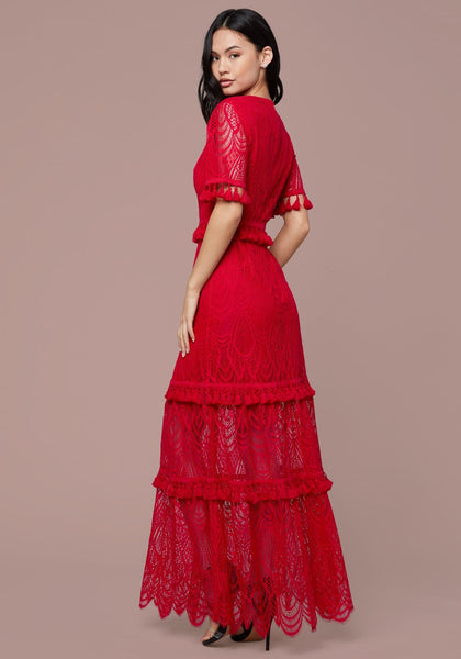 TASSEL LACE GOWN Special Occasion Dresses - bebe Arabia