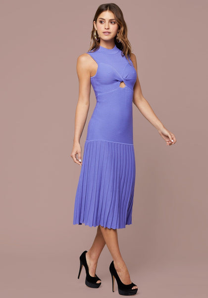 GIOIA RIBBED PLEATED DRESS DAY DRESSES - bebe Arabia