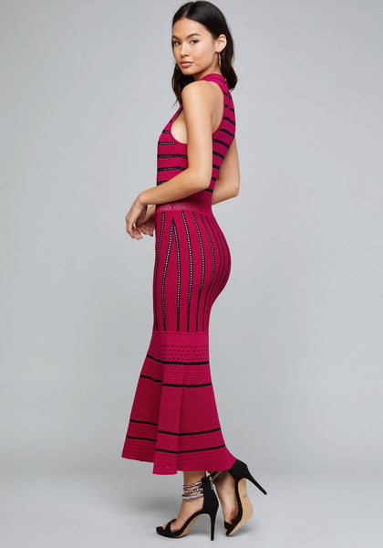 CASI POINTELLE MIDI DRESS - bebe Arabia