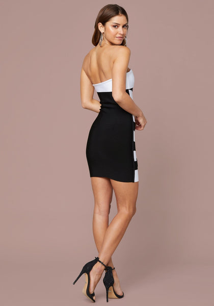 bebe dress - ALY STRAPLESS BANDAGE Party Dresses - bebe Arabia