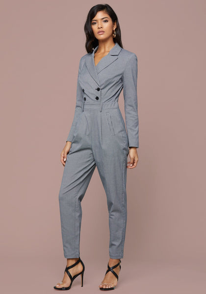 MICRO CHECK JUMPSUIT Jumpsuit - bebe Arabia