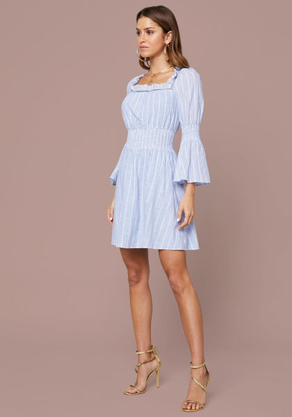 KAELYN RUFFLE NECK DRESS DAY DRESSES - bebe Arabia