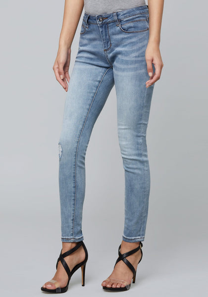 SCRIPTED LOGO SKINNY JEANS FASHION DENIM - bebe Arabia